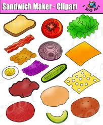 sandwich clipart. Perfect Clipart Build A Sandwich Clipart  Bread And Toppings Clip Art Pack In L