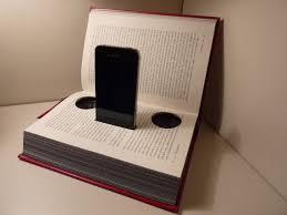 reuse old books diy iphone design stand speakers home craft idea