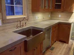 cast n place concrete countertops traditional kitchen