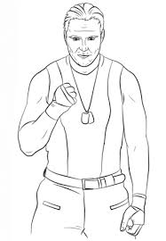 Wwe Dean Ambrose Coloring Page Free Printable Coloring Pages
