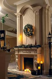 garland fireplace mantel lovable green wreath over hearth stone ideas also as decorate living room