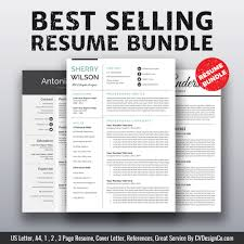 2019 Best Selling Ms Office Word Resume Cv Bundle The Sherry Resume Templates Cv Templates Cover Letter References For Unlimited Digital