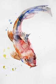 original watercolor painting koi fish gold fish sea children room art goldfish mother s day girt ocean shubunkin art ooak