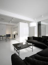 Black Low Profile Sofas White Lounge