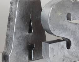 ... Large Metal Letters For Wall 7 2 METAL LETTERS Zinc Steel Finish  Initial Painted Home Room ...