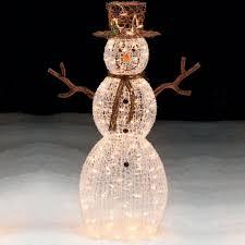 Trim A Home® 50\u201d Lighted Snowman Outdoor Christmas Decoration | Shop