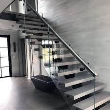 glass panels modern ideas for stair railing