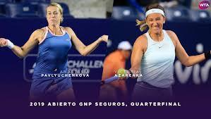 2019 monterrey highlights azarenka ousts pavlyuchenkova