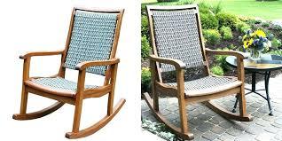 semco plastic resin rocking chair white wicker patio
