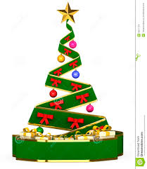 3D Christmas tree with toys and gifts