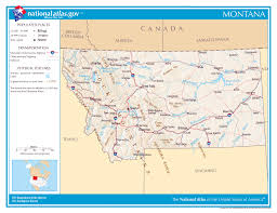 Alberta Distance Chart Large Detailed Map Of Montana State Montana State Large
