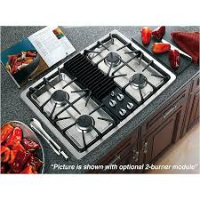 30 inch downdraft gas cooktops profile built in modular stainless steel sears ge 4 burner