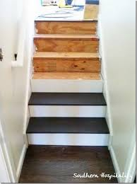 valspar porch and floor paint in satin fired earth painted pine stairs down