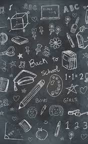 Chalkboard School Backdrop
