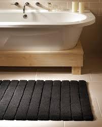 Lined Bamboo Bath Mat $85