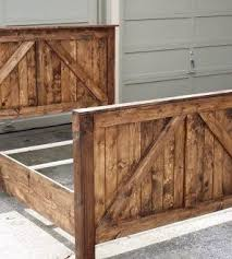 rustic wood bed frame. Contemporary Frame Beautiful Rustic Barn Door Bed Farmhouse Style Rustic Bed Frames  Headboard Diy For Wood Frame