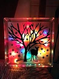glass blocks lights decorated gorgeous decorative block