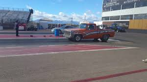 76 chevy truck drag racing qualifing #1 1/21/17 - YouTube