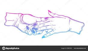 женский пара держатся за руки гей романтики векторное изображение