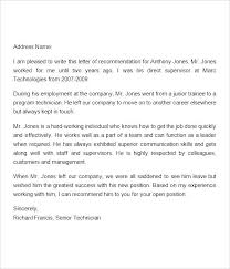 Writing A College Recommendation Letter Sample From Employer