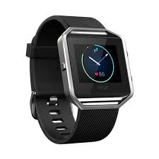 fitbit blaze black large smart fitness watch fb502sbkl eu1 year warranty only for device
