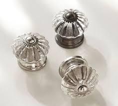 Round glass cabinet knobs Cabinet Hardware Pottery Barn Vintage Glass Round Knob Pottery Barn