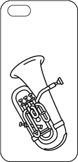 吹奏楽楽譜販売 Asks Winds 楽器イラスト入りスマートフォンケース