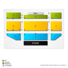 Meadows Casino Concert Seating Chart Meadows Racetrack Casino 2019 Seating Chart