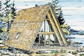 #146-1841  This is a colored rendering of A-Frame Home Plans LS-H-15