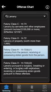 Felony Chart Nc Sentencing Smartphone App Availablenorth Carolina Criminal Law