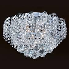 worldwide lighting w33017c16 empire 6 light chrome crystal flush mount