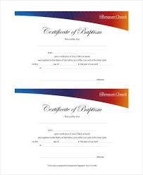 Sample Baptism Certificate Template Beauteous 48 Sample Baptism Certificate Templates Free Sample Example
