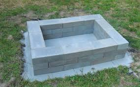 Concrete patio with square fire pit Square Fit Diy Square Fire Pit The Spruce 10 Diy Backyard Fire Pits