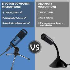 EIVOTOR USB PC Mikrofon Computer Microphone Desktop: Amazon.de: Elektronik