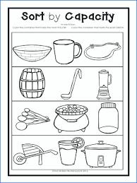 capacity worksheets for kindergarten – marinaradet.info