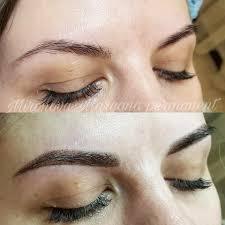 пудровые брови без боли без отека перманентный макияж
