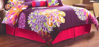 interior purple fl bedding set on the bed beautiful look of cool teenage girl