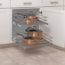 Simply Put 205 In W X 146875 In 2 Tier Pull Out Metal Soft Close