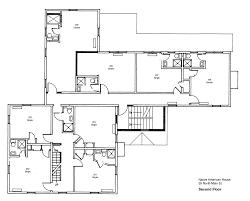 architectures modern american foursquare house plans floor