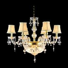 gorgeous clear crystal beads and bobeches golden finish 9 light chandelier