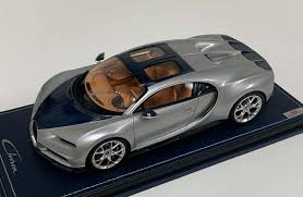 Pure driving and pure adrenaline: Mr Collection 1 18 Bugatti Chiron Sport Edition Sky View Argent Silver