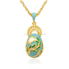 whole elegant peacock tail faberge egg charm hand color enamel russian style egg necklace for easter day black pendant necklace opal pendant necklace