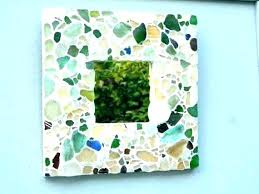 sea glass mirror mosaic bowl home depot