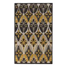 surya mamba gray rectangular indoor tufted area rug common 5 ft x 8