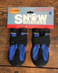 For Two Pairs Of Muttluks Snow Mushers Snow Mashers Dog Boots Size 6 Blue