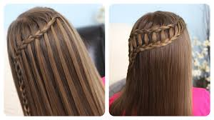 Lace Hair Style feather waterfall & ladder braid bo 2in1 hairstyles cute 6087 by wearticles.com