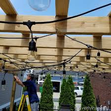outdoor pergola with lights cleverlyinspired 1
