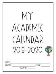 Monthly Academic Calendar Printable And Editable 2019 2020 Teacher Academic Calendar Planner