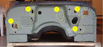 wrangler yj tub swap firewall hole question com there are probably some other small screw holes necessary or redundant but these should be all the major ones let me know if i ve missed any