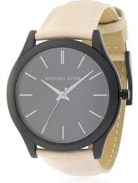 michael kors slim runway leather men s watch mk8510